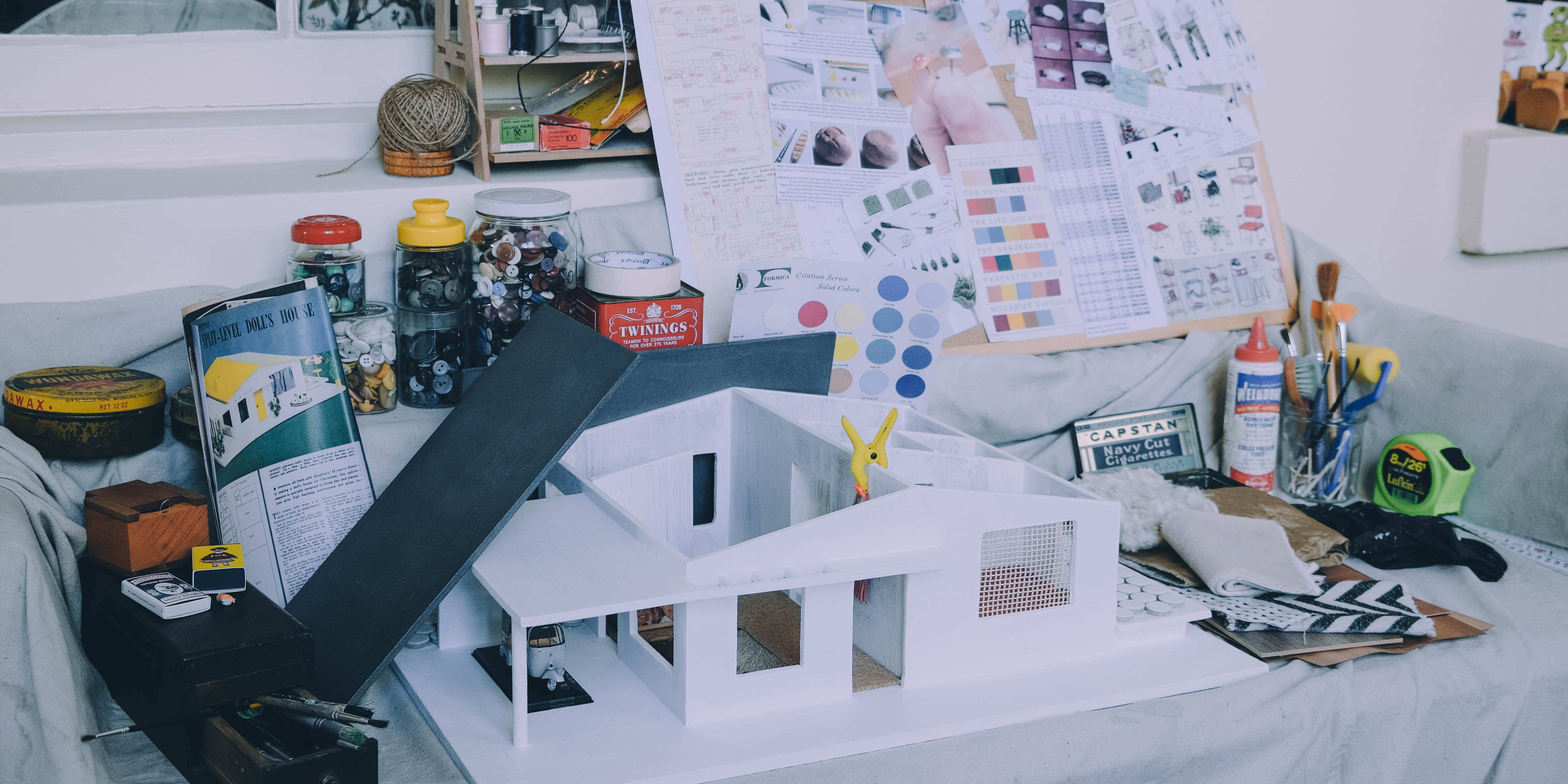 Dollhouse in construction